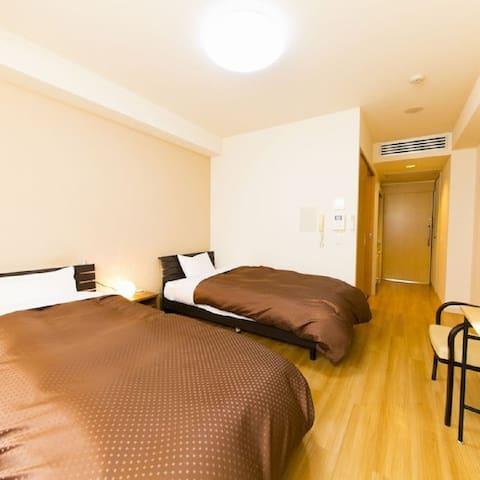 Dogonoyado Iwasaki twin bed room