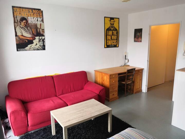Appartement 27m² avec balcon aux Minimes