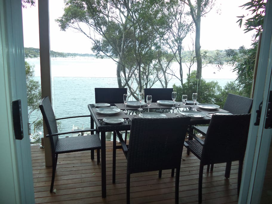 Water view dining