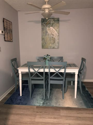 Dining table for tasty treats and games!