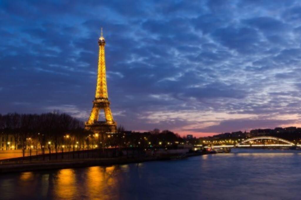 Paris, les quais à  5 min en métro.