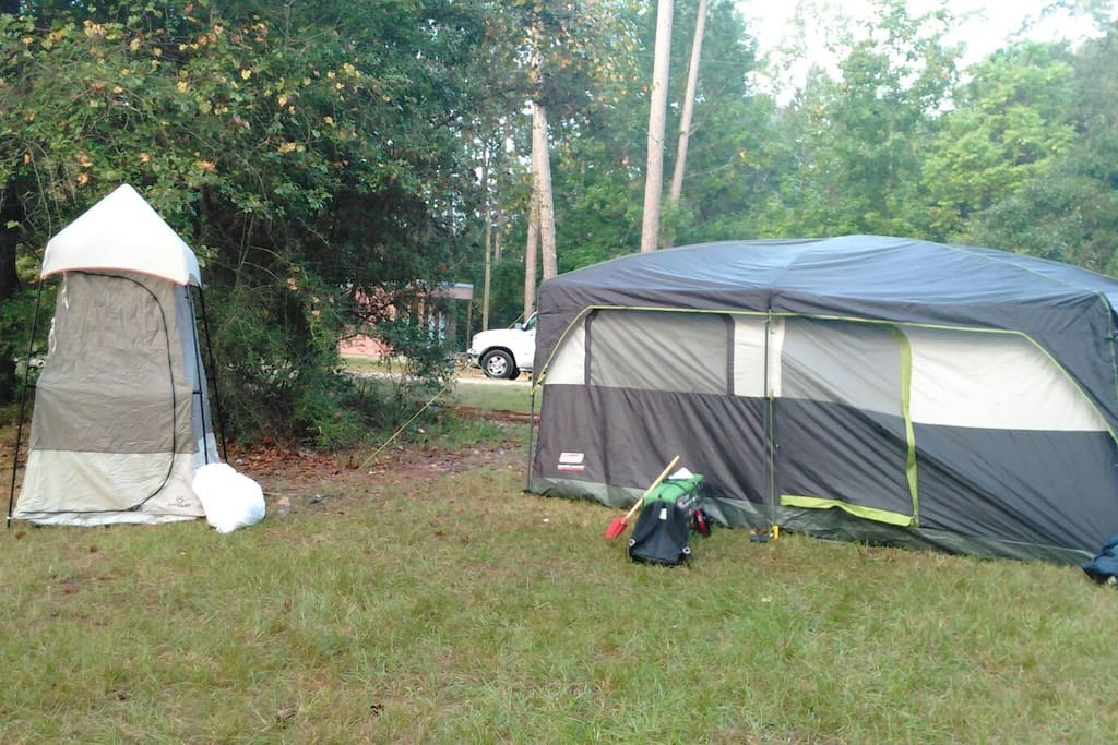 geaux glamping in my backyard north of nawlins zelte zur. Black Bedroom Furniture Sets. Home Design Ideas