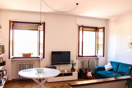 Rooftop apartment in the old town of Faenza