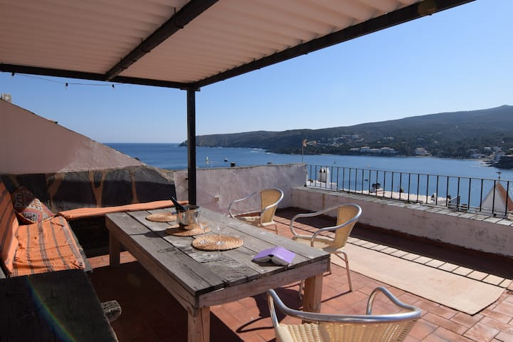 Great house in Cadaques: patio, huge rooftop...