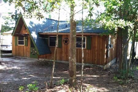 Lake Front Cabin (Big Thicket Forest) Ivanhoe - Woodville - Blockhütte