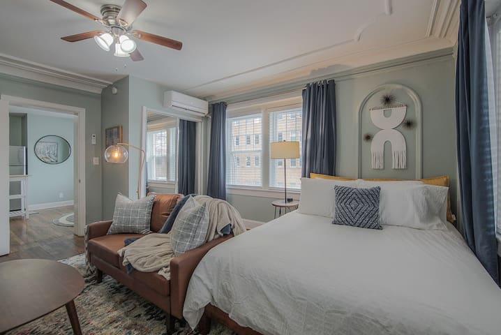 Bedroom/Living Space in One.