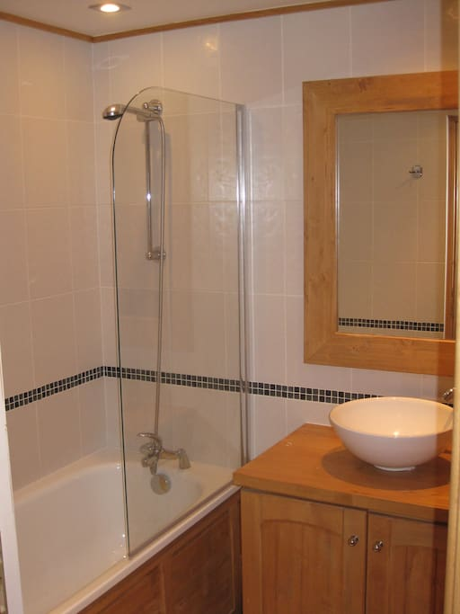Clean and modern bathroom. Loads of hot water.