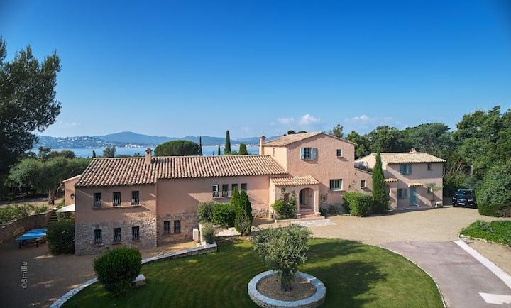 6 Bedroom Villa with Sea Views near Saint Tropez