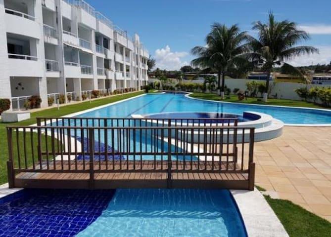 Tabatinga Beach Resort-Ap térreo-cond  à beira mar