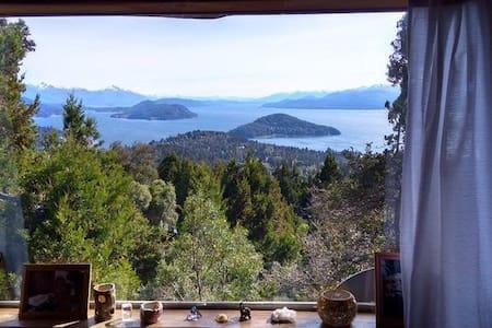 Cabaña con vista increíble al lago Nahuel Huapi