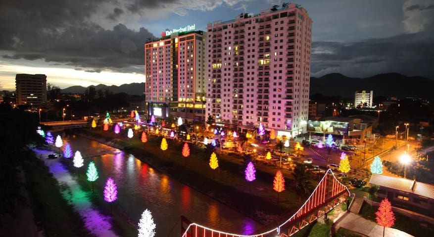 Kinta Riverfront Suites Ipoh 3BR - Ipoh - Apartment