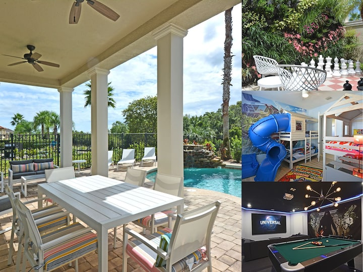 Style & Luxury: Pool, Views, Movie & Game Room