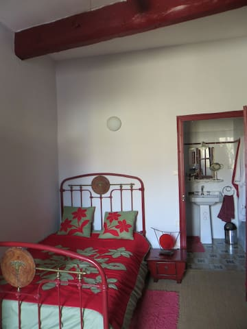Chambre et salle d'eau privée - Gigean - Rumah