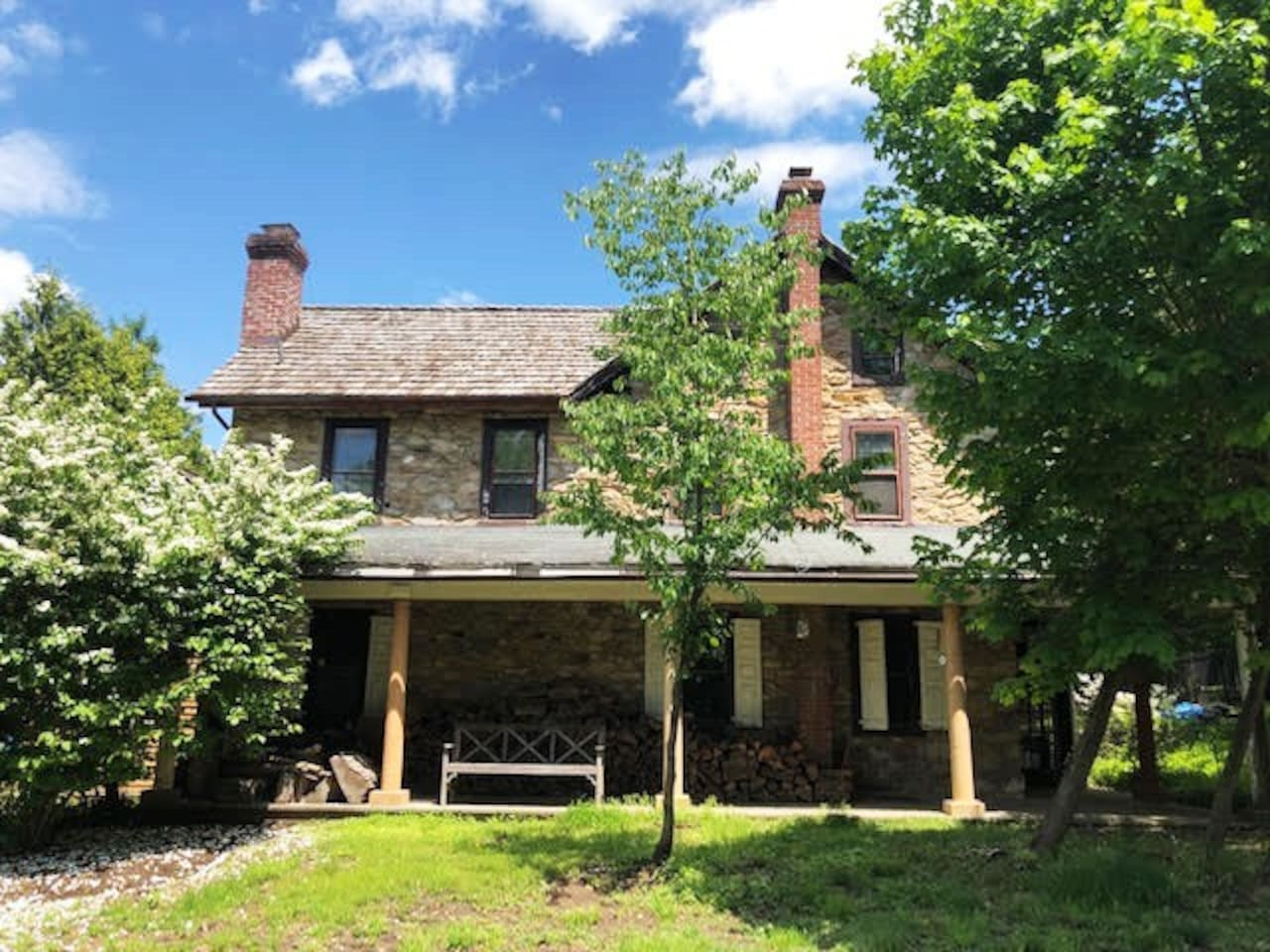Front of the 1780's farmhouse in Bucks County/Lehigh County