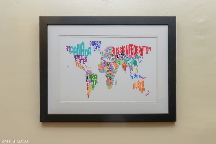 Where are you from? - my favorite world map