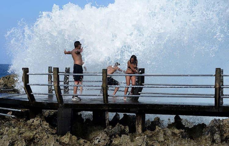 Visit around:  It looks cool, isn't it? Nusa Dua Water blow.