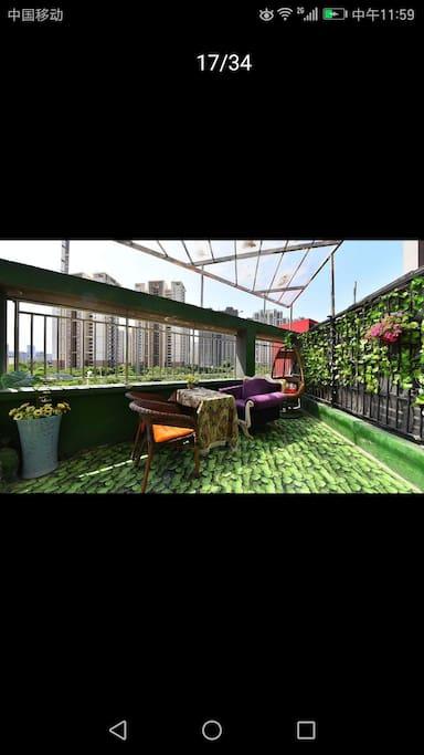 阳台小花园