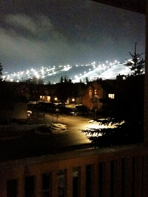 Your view of the mountain. watch the fireworks from the livingroom