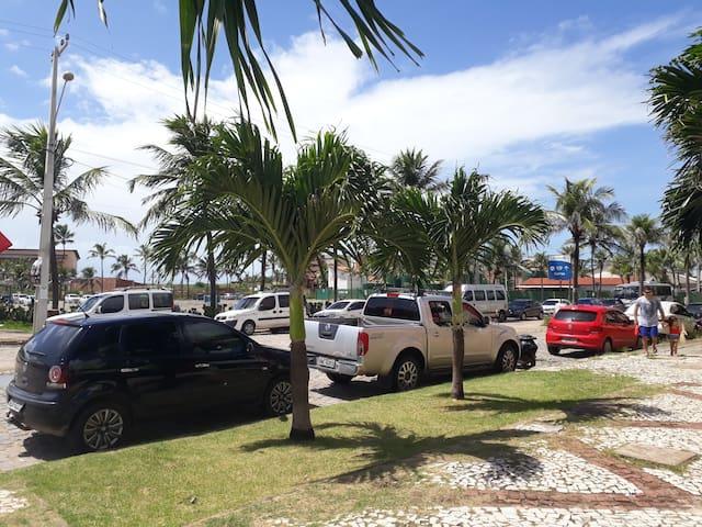 Flat em frente ao beach park