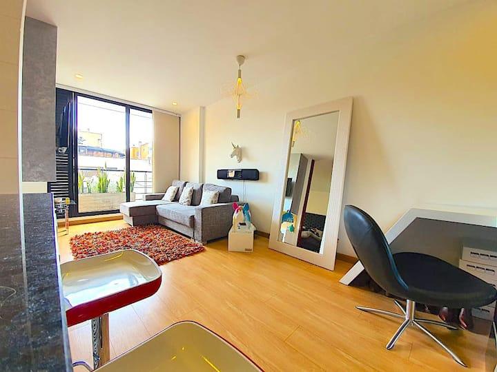 Acogedor y moderno apartaestudio