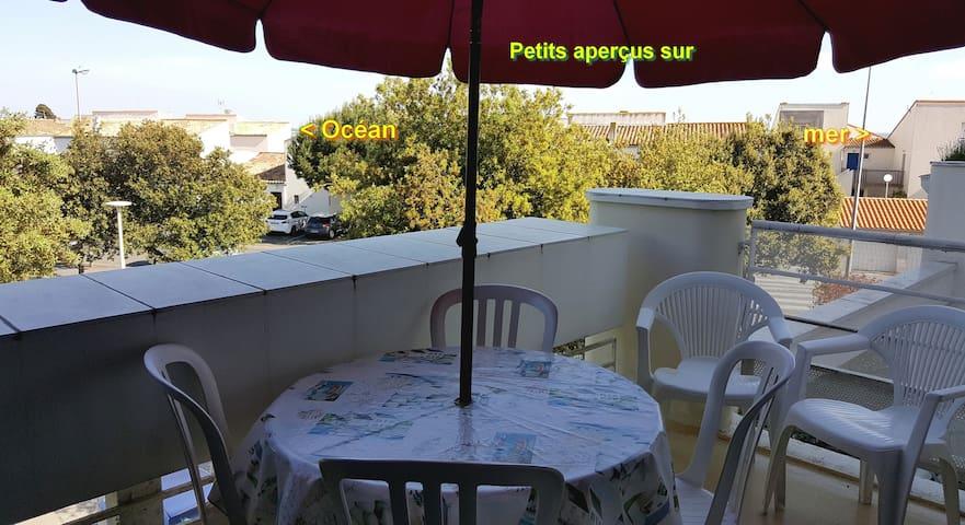 La Rochelle plage Minimes 6 pers parking terrasse