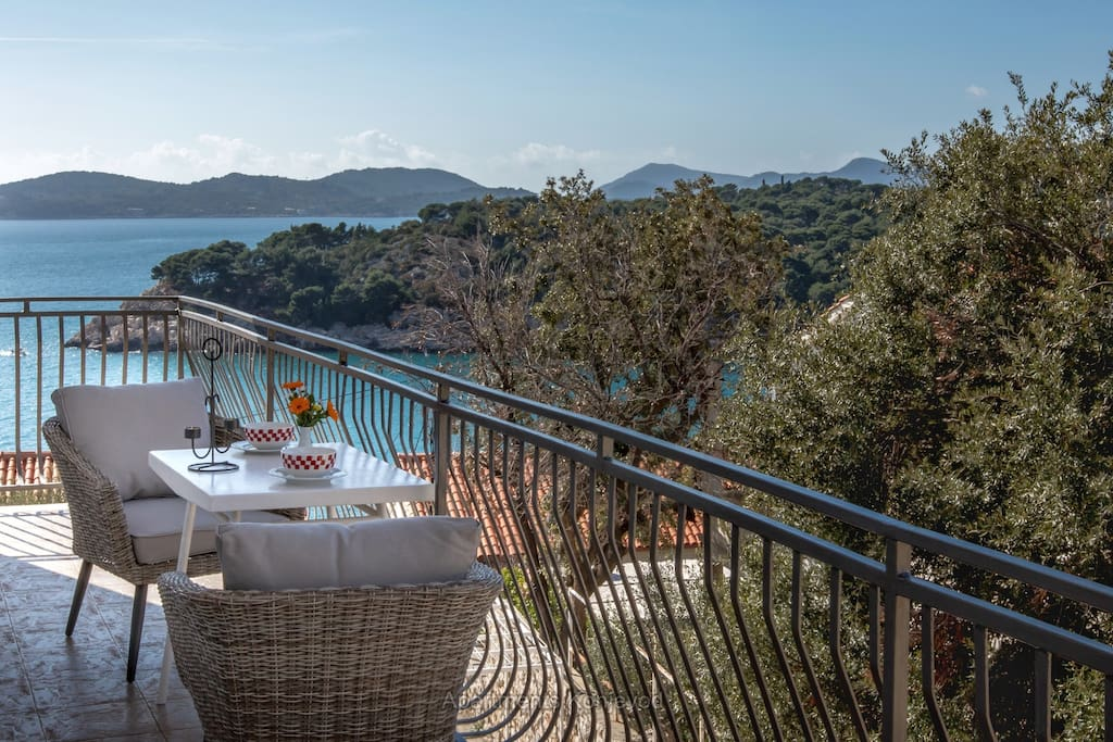 Spacious seaview balcony