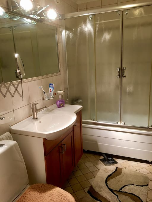 Bathroom with both tub and shower