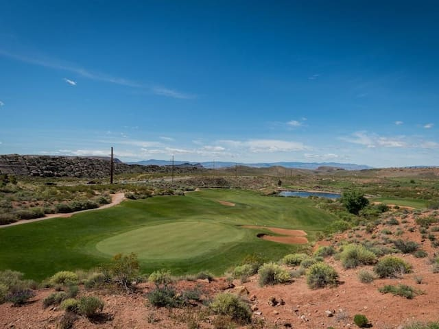 Patio Views Of Coral Canyon Golf Course