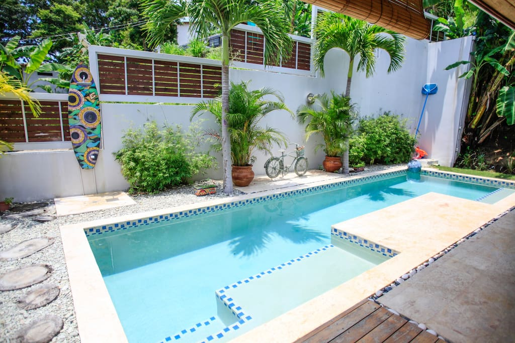 Villa Guanacaste has a beautiful 60 SQF swimming pool with two different lounges