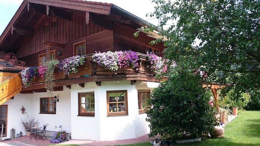Ferienwohnung Küblbeck mit Terrasse und Bergblick - Marktschellenberg - Apartment