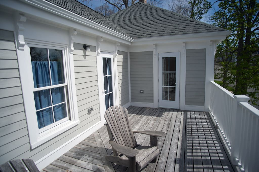 Deck with access to master bedroom and bedroom 2