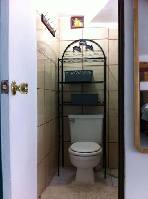 1/2 Bathroom (shower is upstairs)