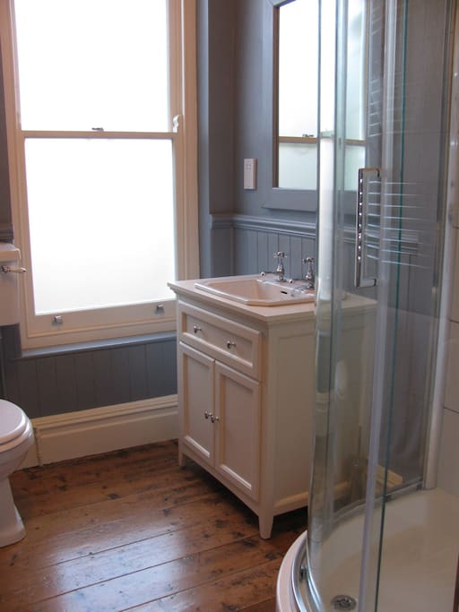 Shower room shared by Bedrooms 1 & 2.