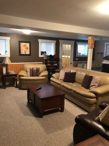 Cliffs place ( full basement sitting/sleep area)
