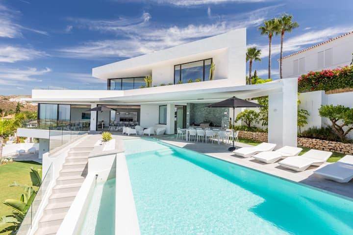 Modern luxury villa with panoramic sea views