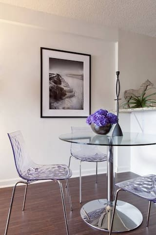 Dining area perfect for hosting at your home away from home
