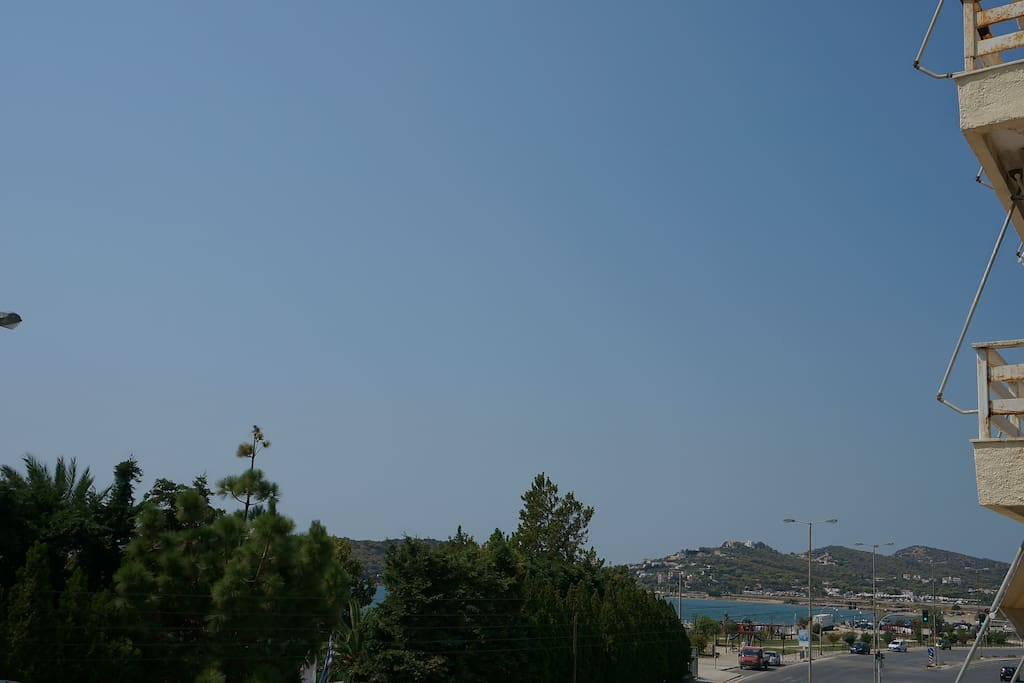 View to the beach