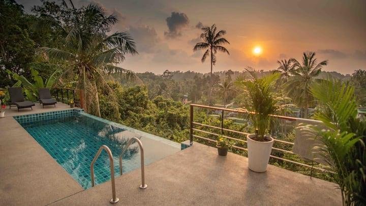 Jungle and sea view private pool Villa.