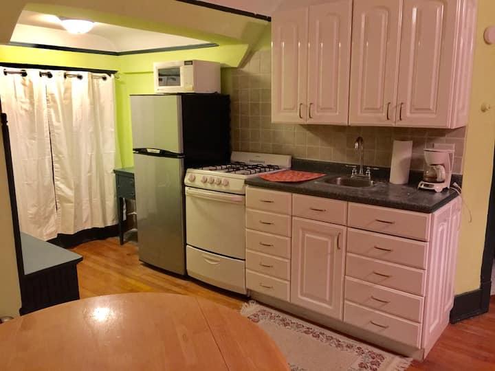 Ballroom studio loft kitchenette