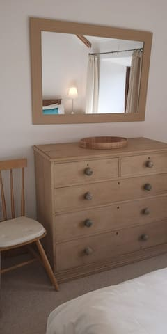 Double chest of drawers. Hair dryer provided.