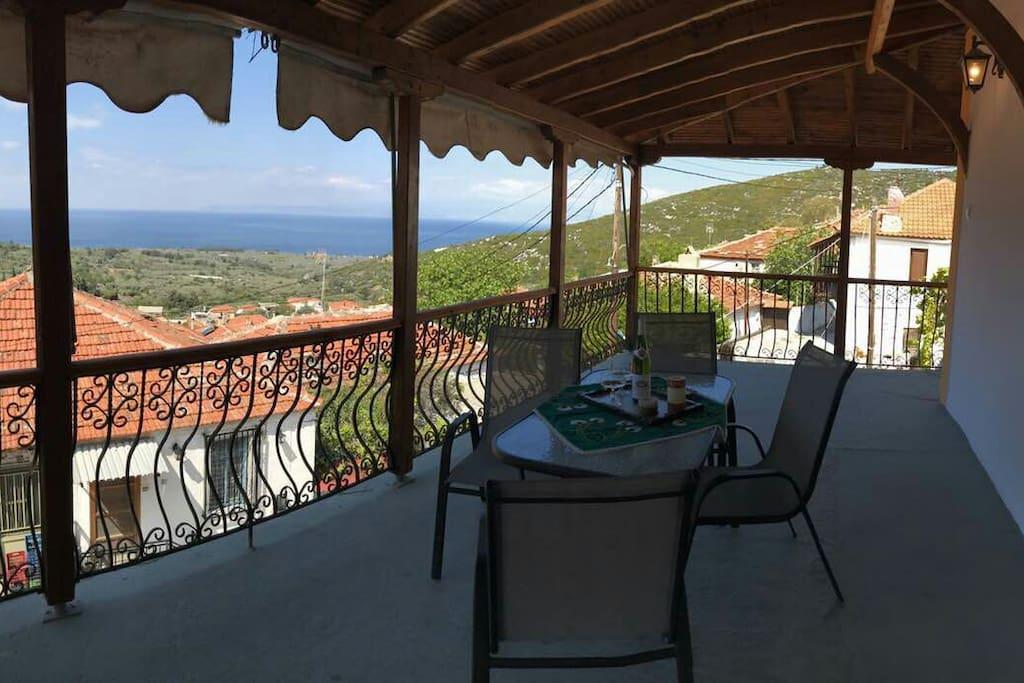 Η θέα από την βεράντα The view to the sea from the terrace