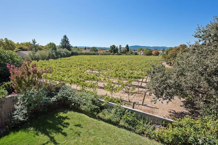 Wine Country Vineyard Views, Hot Tub & Trails