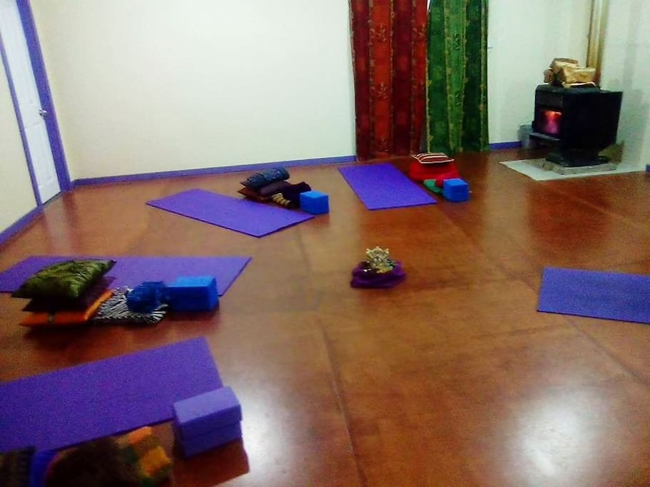 Warm room for yoga