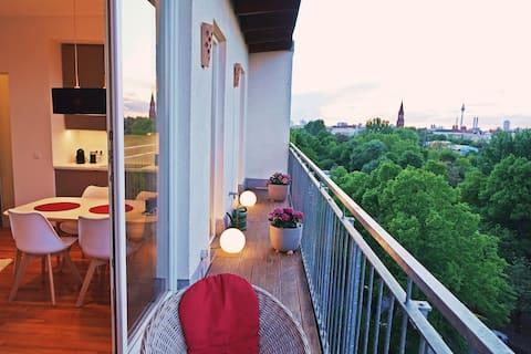 Appartment am Park, Kreuzberg, Balkon, Weitblick