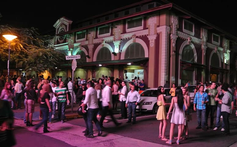 The streets around the Placita are closed at night so that revellers can spill out of the bars. This picture could have been taken on any given Wednesday, Thursday, Friday, Saturday or, of course, Sunday.