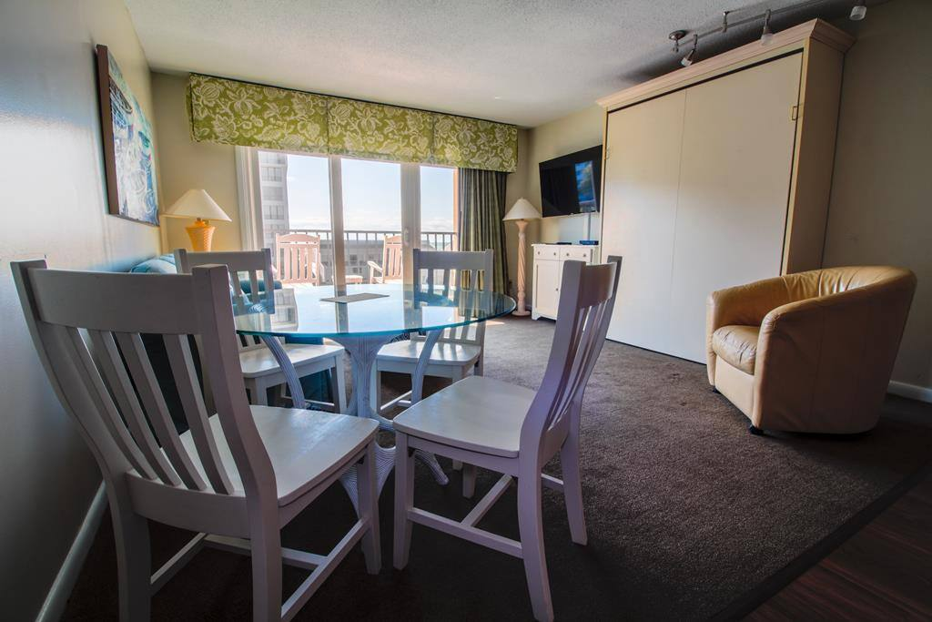 Dining table and queen size Murphy bed