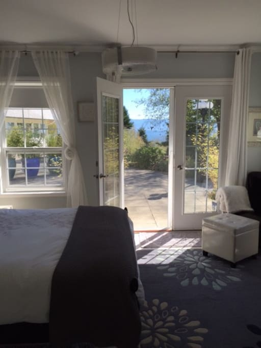 Master Bedroom Views with french doors leading to outdoor deck