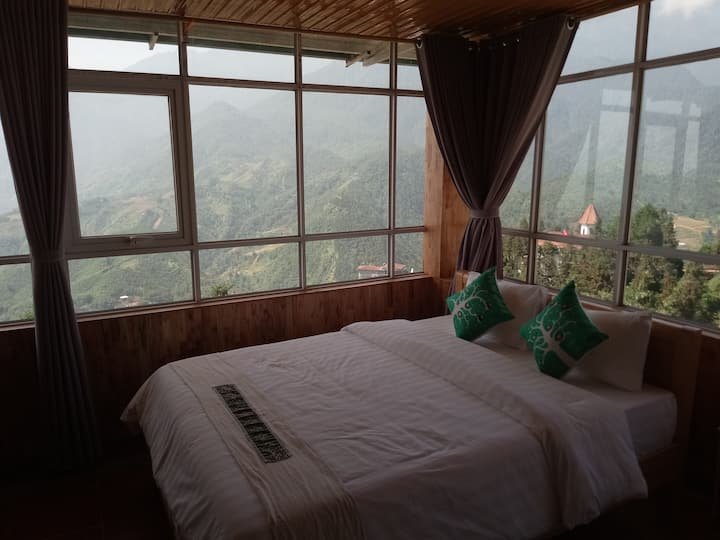 8 mountain view double room sharing  bathroom top