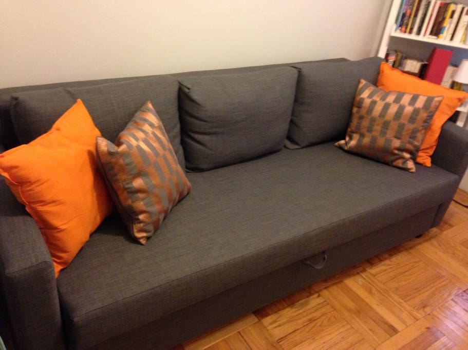 Brand new fold-out sofa sleeps two comfortably!