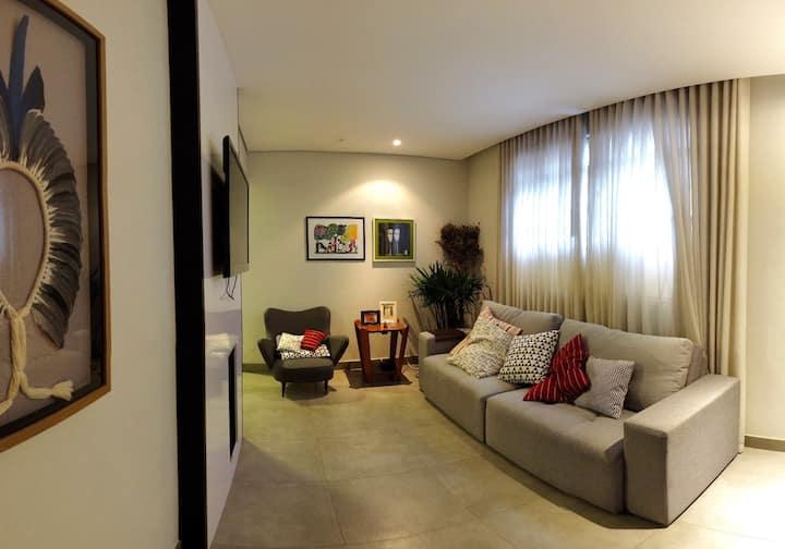 Apartamento de 3 quartos para 3 pessoas na Serra